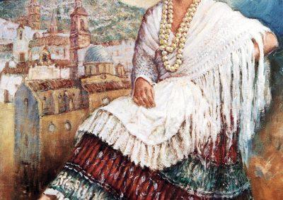 Josefina con traje Yeclano