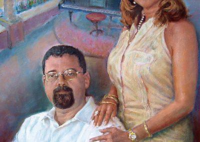 El Doctor Joaquín Diego y su esposa