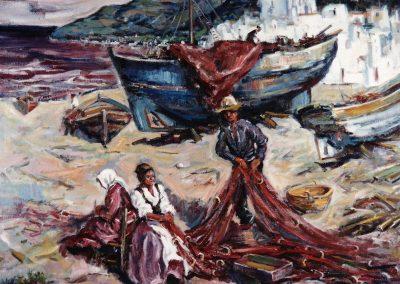 Actividad en el pueblo pesquero