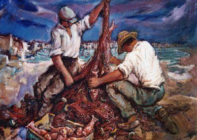 Buena pesca de salmonetes