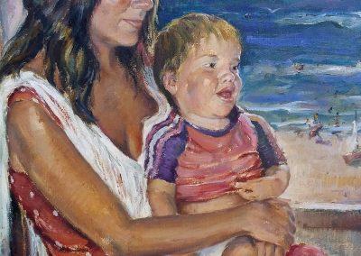 Dulce María Rico con su hijo Alberto