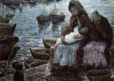 Espera con la madre e hija