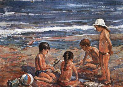 Haciendo hoyos en la arena