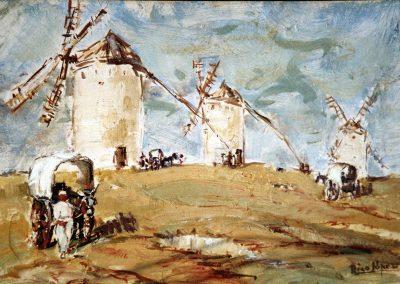 Molinos de viento en campo de Criptana