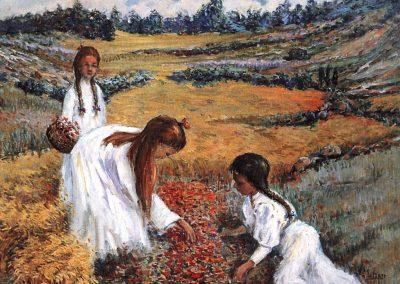 Recojiendo flores