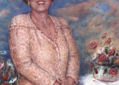 Señora de Garrido en Rosa
