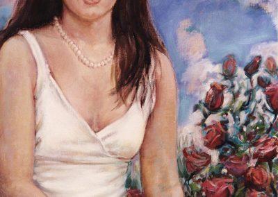 Señorita con flores, Miami