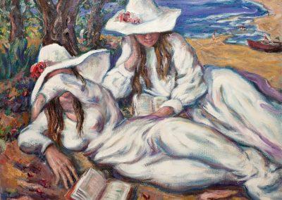 Mujeres en blanco en Miami