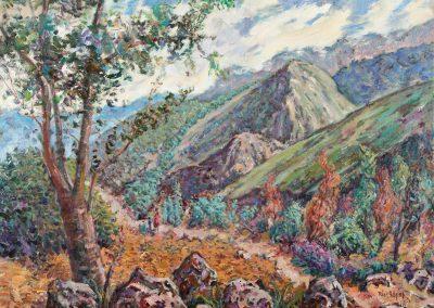 Paisaje de Asturias con piedras